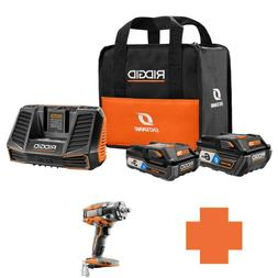 RIDGID 18-Volt OCTANE Battery And Charger Kit W/ 3.0 Ah,  6.