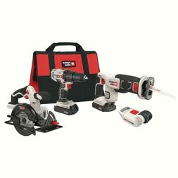Porter Cable 20V MAX Lithium-Ion Cordless Tools 4 Tool Combo