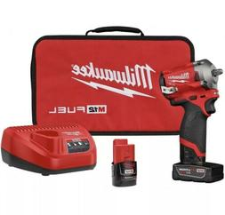 "Milwaukee 2554-22 M12 FUEL Stubby Cordless 3/8"" Drive Impact"