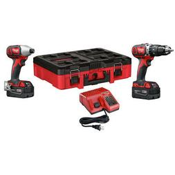 Milwaukee 2697-22PO M18 Compact 2-Tool Combo Kit  w/ PACKOUT