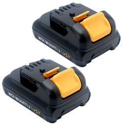 2XFor DeWalt 12V Max 2.0AH Lithium Ion Replacement Battery D