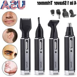 4 in 1 Electric Nose Ear Face Hair Removal Trimmer Shaver Cl