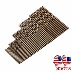 50pcs 1mm-3mm Drill Force Tool M35 Cobalt Set For Hardened S