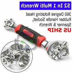 52 in 1 Universal Wrench Adjustable Tools Multi-Function Soc
