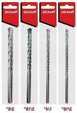Makita 4 Piece - Essential Concrete Drill Bit Set for Hammer