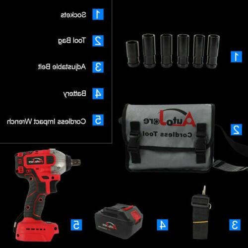 1/2'' Brushless electric Impact wrench driver li-ion battery tools