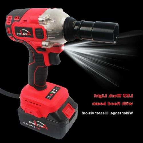 1/2'' electric Cordless Impact wrench driver li-ion battery