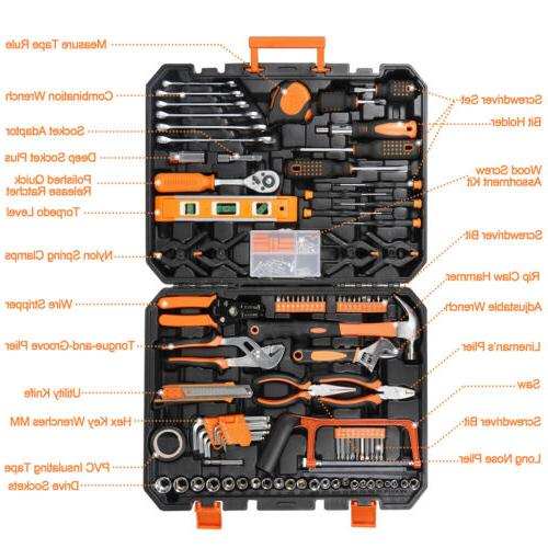 168 Pcs Set General Household Hand Tool with Toolbox