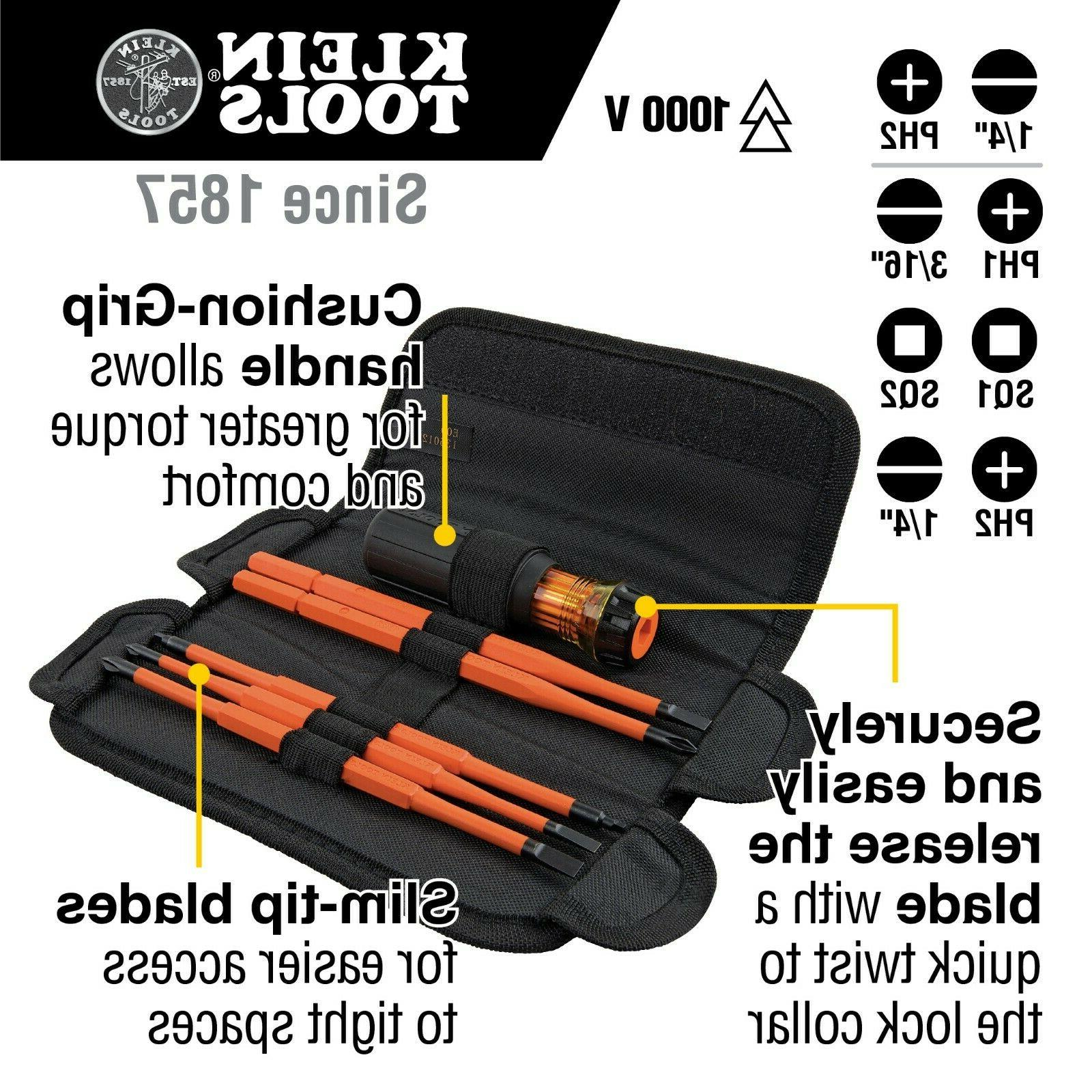 Klein Tools 8-in-1 Insulated Interchangeable Set