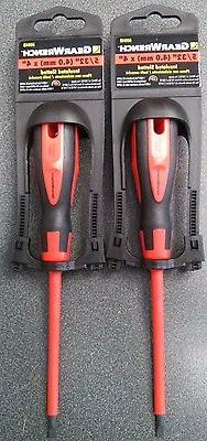 """Gearwrench 80048 5/32"""" 4.0mm x 4"""" Slotted Screwdriver 2pcs"""