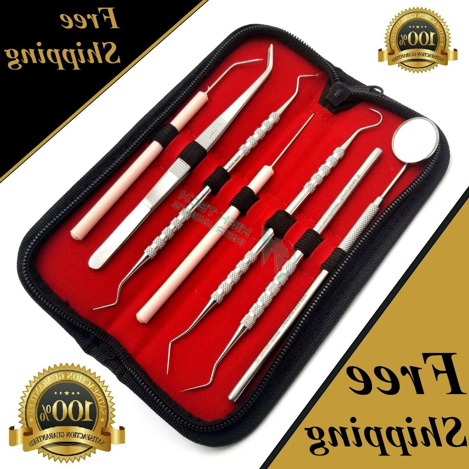 GERMAN Dental Scaler Pick Stainless Steel Tools with Inspect