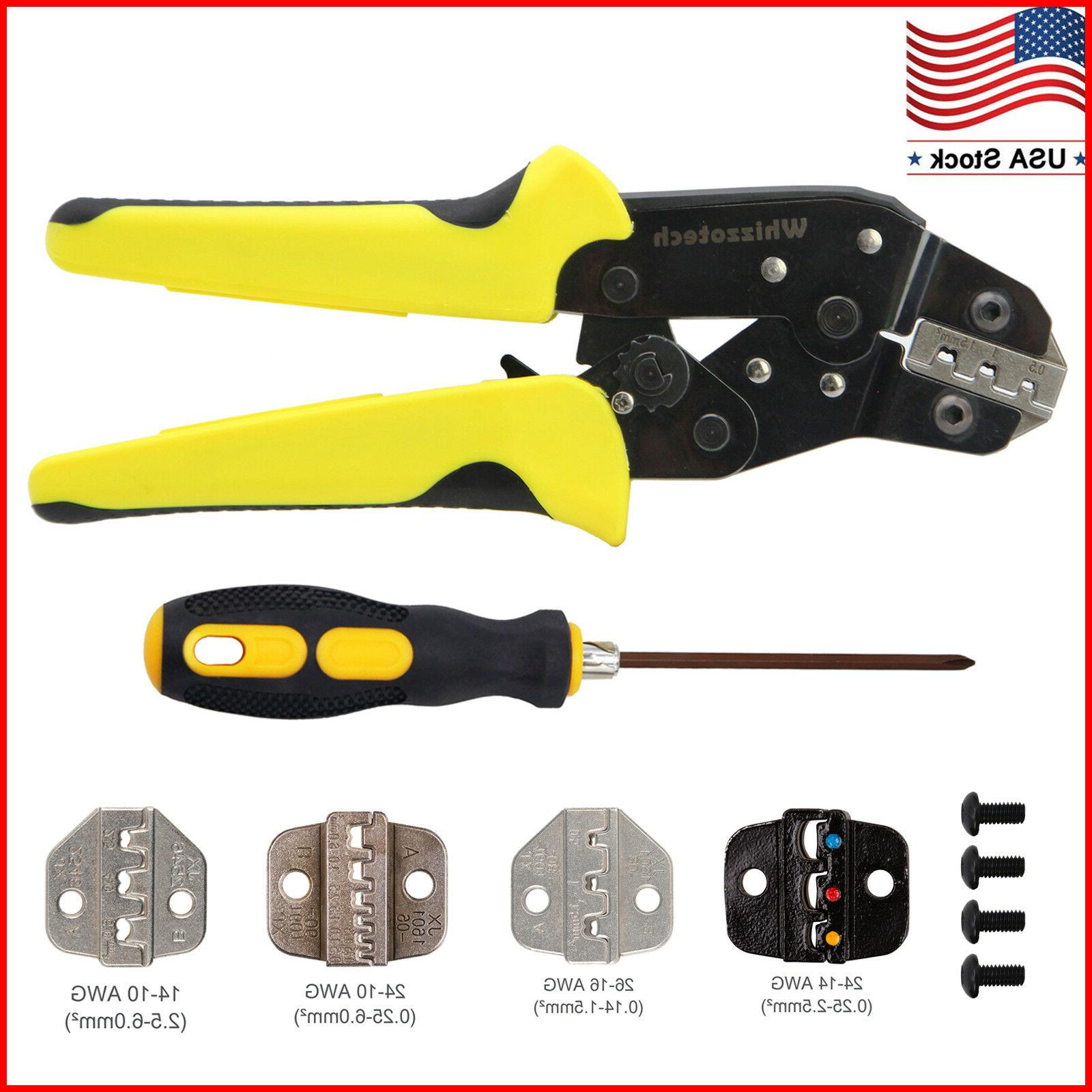 insulated cable connectors terminal ratchet crimping tool