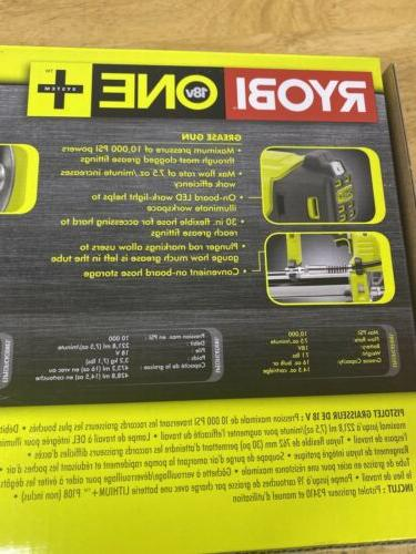 RYOBI ONE+ 18 Grease 30 in. Cordless Tool Only
