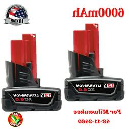 NEW MILWAUKEE 48-11-2460 M12 RED LITHIUM XC6.0 EXTENDED CAPA