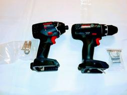 lot  of 2 BOSCH 25618 - DDS181 - 18V Impact & DRILL Driver T