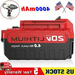PORTER CABLE 20V MAX LITHIUM ION 4.0 AH BATTERY