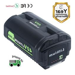 New 40V 6.0Ah OP4050A Li-ion Replacement Battery for Ryobi 4