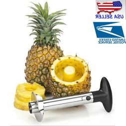 New Easy Kitchen Tool Fruit Pineapple Corer Slicer Cutter Pe