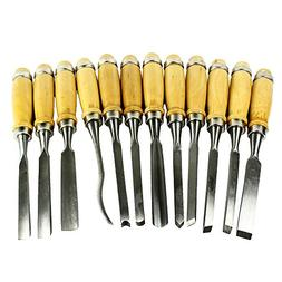 12 Piece Wood Carving Hand Chisel Tool Set Professional Wood